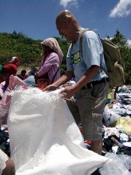 picking garbage
